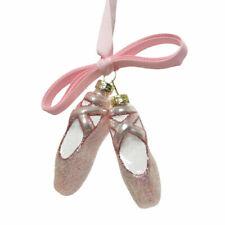 Pink Glass Ballet Slipper Christmas Ornament - 7.5cm | Christmas Tree Decoration