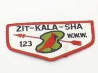 Boy Scout Zit Kala Sha Lodge 123 OA Flap Patch BSA WWW