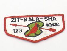 ZIT KALA SHA LODGE 123 OA Boy Scout Flap Patch BSA WWW