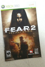 Xbox 360 F.E.A.R. 2 Project Origin Instruction Booklet Insert Only Microsoft