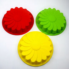 "New 9"" Sun Flower Round Silicone Cake Bakeware Baking Cup Cupcake DIY Mold Mould"