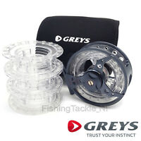Greys QRS Fly Reel - Quad System Fly Fishing Reel With 3 Spare Spools