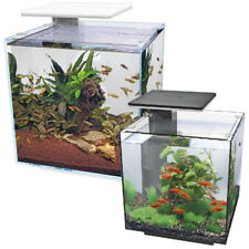 Superfish Qubiq Aquarium Nano Fish Tank Integrated Filter, Optional LED Light