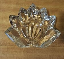 Heavy Clear Glass Pillar Candle Holder