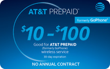 AT&T GoPhone Prepaid $95 Refill Top Up (RTR Direct Load to Phone) 1-24 hours