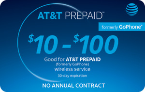 AT&T GoPhone Prepaid $25 Refill Top Up (RTR Direct Load to Phone) 1-24 hours