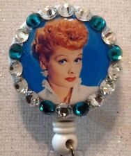Lucy Badge Reel - Lucy Badge - Lucy Id Holder -  I Love Lucy - Swarovski Crystal