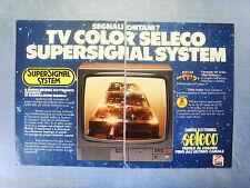 QUATTROR980-PUBBLICITA'/ADVERTISING-1980- SELECO TV COLOR by ZANUSSI -2 fogli