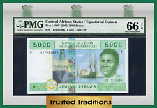 TT PK 509F 2002 CENTRAL AFRICAN STATES 5000 FRANCS PMG 66 EPQ POP 2 NONE FINER!