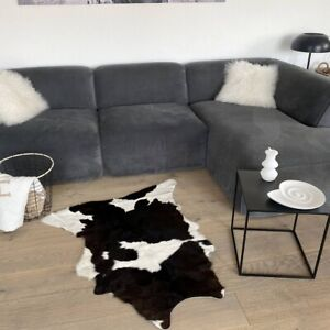Calf Skin No. 116 Black-Brown/White 123 X 75 CM Hand-Picked from South America