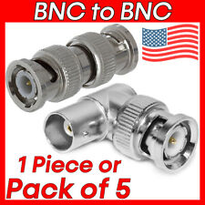 BNC to BNC Connector Straight Right Angle Coaxial Cable Coupler Adapter M/M M/F