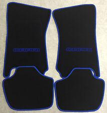 Autoteppich Fußmatten für Ford Capri 2 und 3 schwarz blau 4teilig Neuware