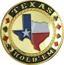 "Poker Card Guard ""TEXAS HOLDEM"" 24K GOLD PLATED"