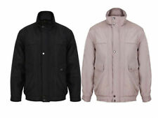 Button Polyester Hip Length Zip Neck Coats & Jackets for Men