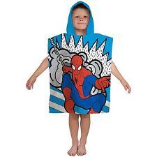 Ultimate Spiderman Abstracto Poncho Con Capucha Toalla Niño Infantil Algodón