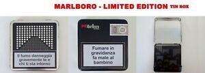 Marlboro limited edition pacchetto sigarette metallo logo colore argento