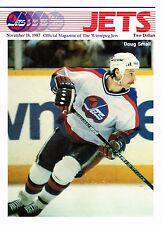 1987 Winnipeg Jets Home vs Boston Bruins NHL Hockey Program #73