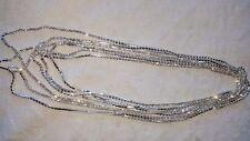 LOTTO 12 PZ 1 RIGA Design Diamante 2.5m Collane-Nuovo All'ingrosso