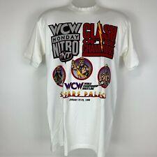 Vintage 1996 Caesars WCW Medium Shirt WWE WWF Wrestling Hulk Sting Macho Man New