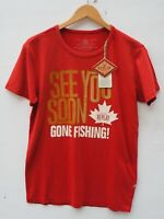 BNWT Men's REPLAY 'GONE FISHING' Motif S/S T Shirt / Top size Medium 36-38""