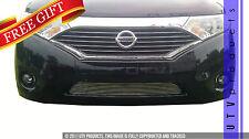 GTG Polished 1PC Overlay Bumper Billet Grille fits 2011 - 2014 Nissan Quest