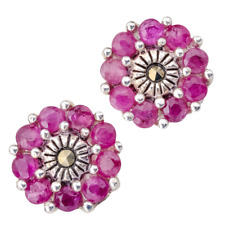 80cbd6f62 Ladies Shipton and Co Silver and Ruby Earrings TSV076RUMM