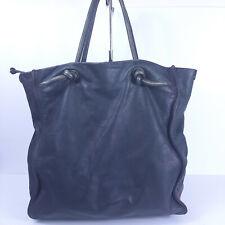 La Busteria Leather Tote Blue Gray Italy Purse Satchel Shoulder Handbag Shopper