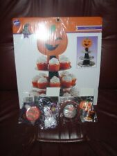 Pumpkin Halloween Cupcake Treat Stand from Wilton & 2 SETS OF CUPCAKE CUPS/PICK