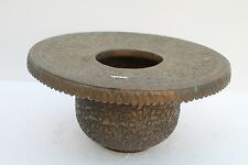 Vintage Copper Pot Handcrafted Engraved Carved Used For Hand Wash NH1287