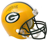 Davante Adams Signed Packers Full-Size Helmet JSA COA