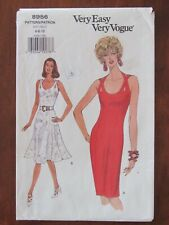 VOGUE PATTERN - 8956 LADIES FITTED DRESS BACK STRAPS HALTER 6-10 PETITE UNCUT