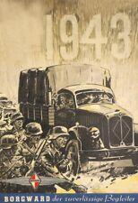 Borgward Deutsche Soldaten 2. Weltkrieg 1943 Blechschild Tin Sign 20 x 30 cm