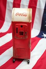 COCA COLA SODA MACHINE PIGGY MONEY COIN BANK tin handmade tinplate vintage metal