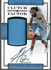 2016-17 NATIONAL TREASURES CLUTCH #19 KENNETH FARIED JERSEY AUTO 46/75 NUGGETS