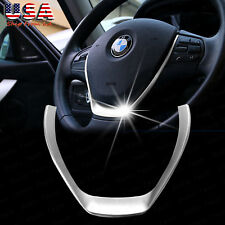 Refit ABS Chrome Interior Steering Wheel ADD-ON Trim For BMW 3 Series X3 Series