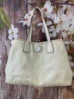 Coach Signature Patent Leather Ivory Purse Handbag F15658