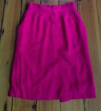 "Vintage John Meyer Raspberry Pink Rayon Pencil Skirt USA Made 27"" Waist S"