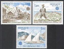 Monaco 1979 Europa/Postal Transport/Steam/Trains/Rail/Railways/Boat 3v (n33375)