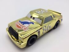 MT Cars 2 Metallic Chick Hicks Golden Diecast Toy Car 1:55 Loose Kids Toy