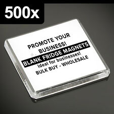 500x Clear Acrylic Blank Fridge Magnets 58 x 58 mm Square Size Photo
