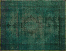 Traditional  Handmade Vintage 9'X12' Overdyed Hand Knotted Rug A8237