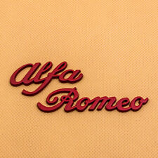 1x Red Metal Alfa Romeo Letter Emblem Badge Car 3D Decal Symbol Sticker