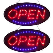2 Ultra Bright Led Neon Light Oval Open with Motion Animation On/Off switch Sign