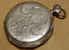 Middle Eastern silver pocket watch, working order, 50mm case, 15 rubis.