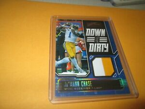 """2021 PANINI CHRONICLES """"RARE"""" DOWN AND DIRTY JERSEY CARD Ja'MARR CHASE #02/10"""