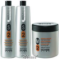 Hydrating KitMax 2 x S2 Shampoo 1Lt + M2 Mask 1Lt Echos Line ® Dry & Frizzy Hair