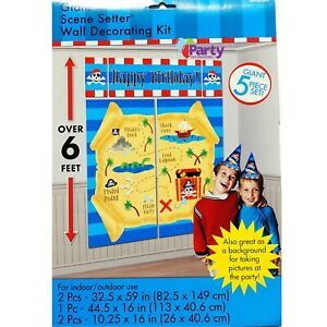 Pirates Party Decorations Boys Birthday Supplies Scene Setter