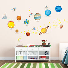 Decowall DW-1307 Planets in the Space Wall Stickers Nursery Children Decal