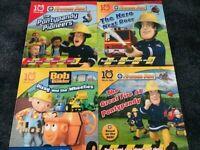 Fireman Sam 10 Minutes Tales Books SET 4 BOOKS-(fireman sam /Bob the Builder