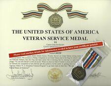 The Veteran Service Medal Us Army Us Navy Usaf Usmc